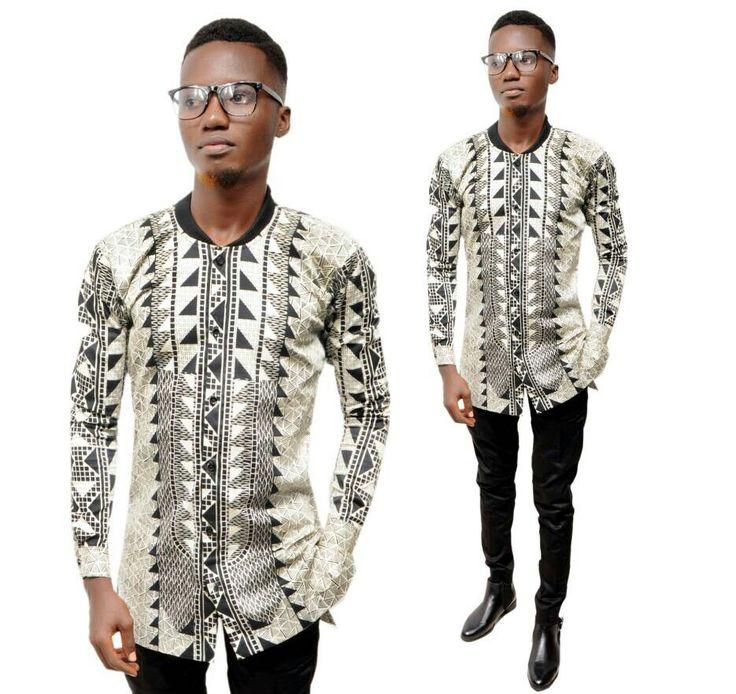 Design chemise longue avec col bombers by JB