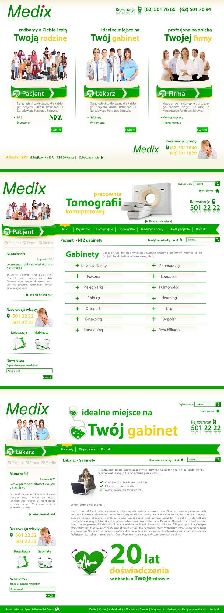 Website for a medical clinic Medix     Design: www.pinkelephant.pl /web design /layout /portfolio /web /design