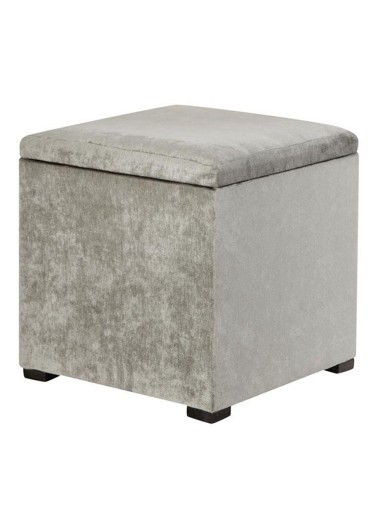 Storage Footstool 40cm X 38cm Matalan 163 25 Mink Grey