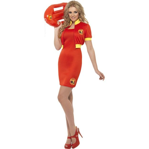 Baywatch Beach Lifeguard Costume, With Dress and Jacket