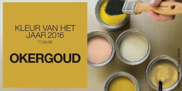 Interieur Kleur van het Jaar 2016: Okergoud is Flexa Kleur van het Jaar 2016!  Mooi voor mijn nieuwe inloopkast