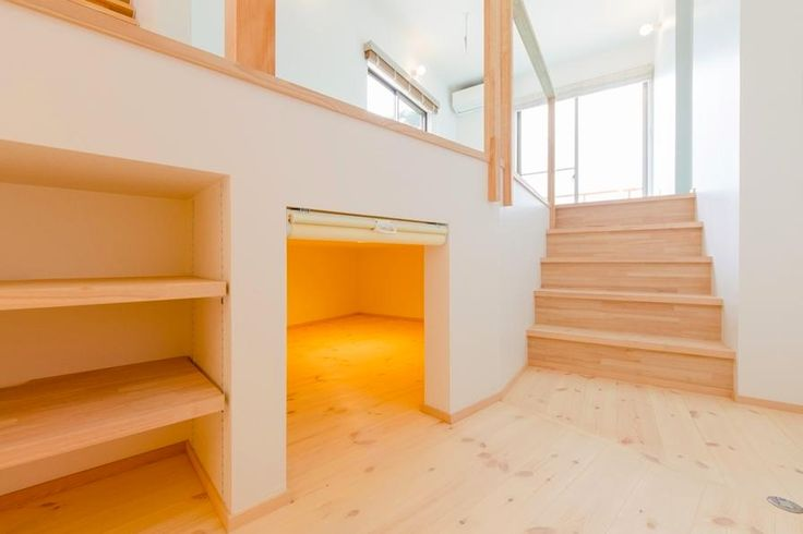 収納事例:セカンドリビングの床下収納スペース(『志和堀の家』スキップフロアのある家)