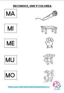 actividades letras m y p