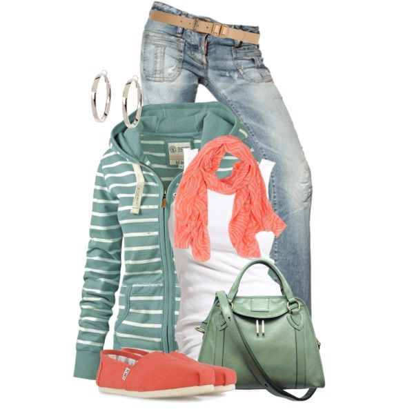"""Fat Face Dakota Stripe Hoody"" by colierollers on Polyvore"