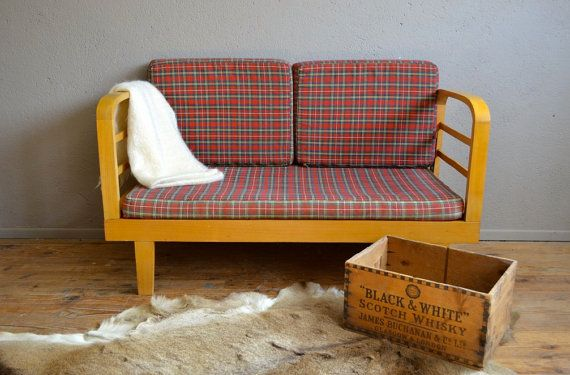 Seat sofa vintage retro 60s cushions by Latelierbellelurette
