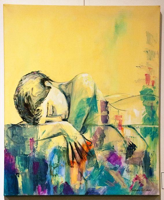 Durmiendo - $ 4950.- Acrílico 50 x 60 cm  Susana Silvani
