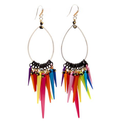 Love all the colors of these beautify earrings <3 Ohlala Hoop Earring - melissacurry