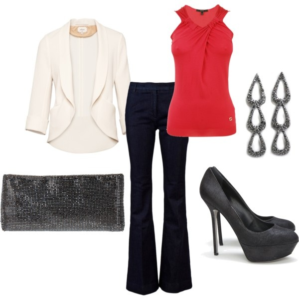Something about this color right now that I can't get enough ofFashion Sen, Fashion Assets, Clothing Edtion, Red Jeans, Cream Blazers, Work Outfit, Beautiful Fashion, Style Clothing, Dreams Closets
