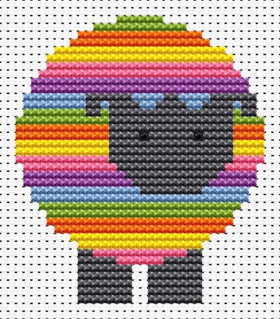 Sew Simple Sheep Cross Stitch Kit £8.95 | Past Impressions | Fat Cat Cross Stitch