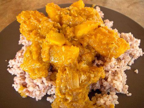 Pumpkin stew in Sierra Leone: Delicious!