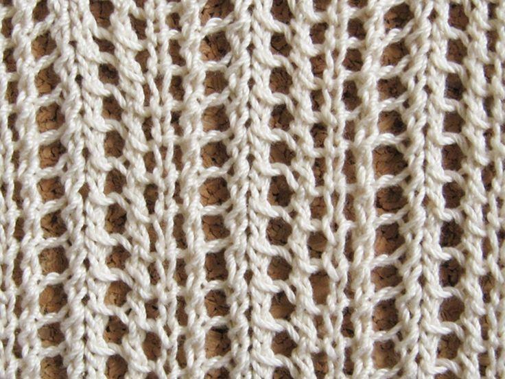 Knitting Lace Chevron Stitch Pattern : Best knit lace images on pinterest knitting patterns