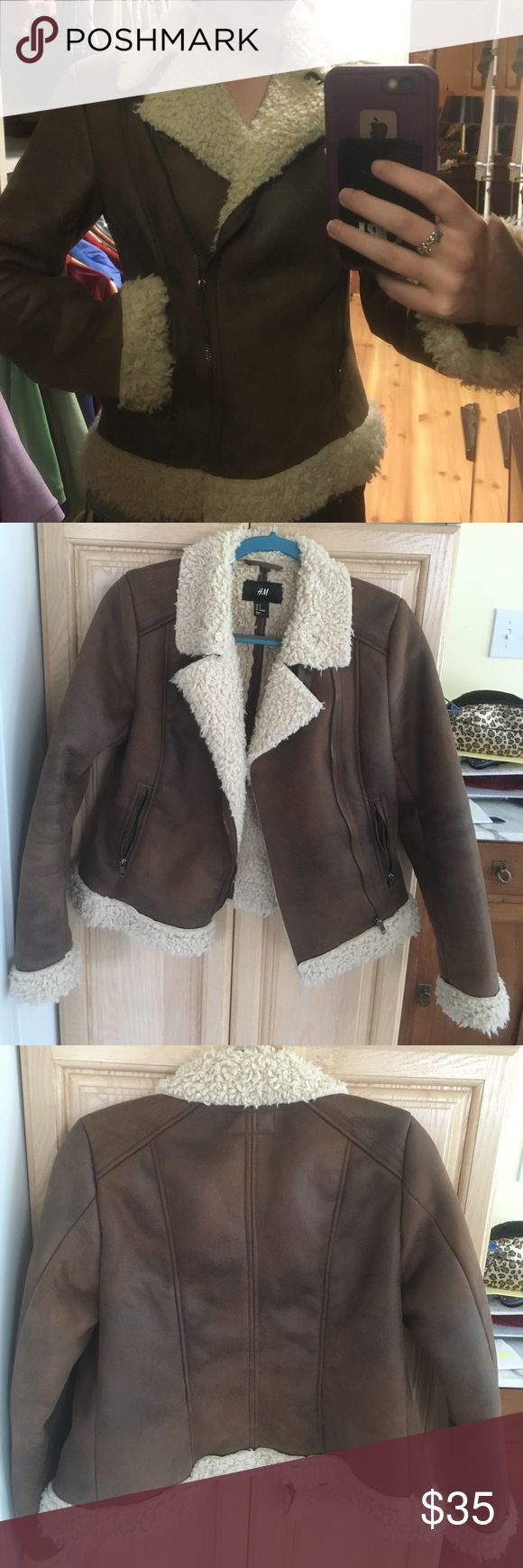 H&M winter coat Warm winter coat from H&M. Cozy inside will help keep you warm whether you are wearing a t shirt or a sweater under this cute winter jacket. Like new, very strong jacket. Size 8 but fits more like a 4! H&M Jackets & Coats Utility Jackets