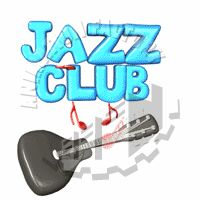 Jazz Club with Guitar Sign Animated Clipart