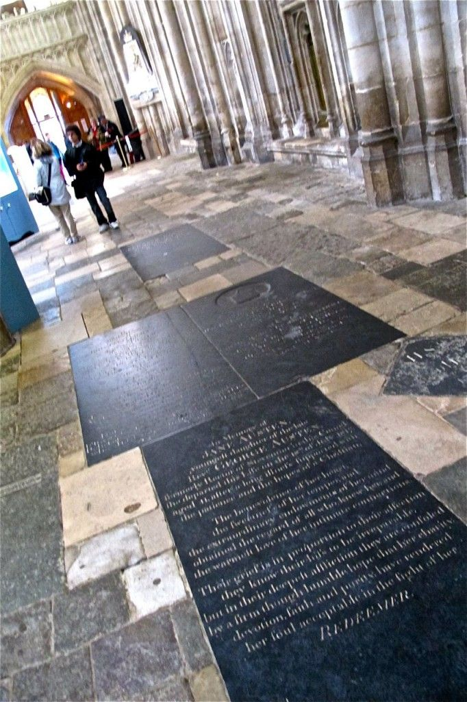 Jane's grave, Winchester Cathedral