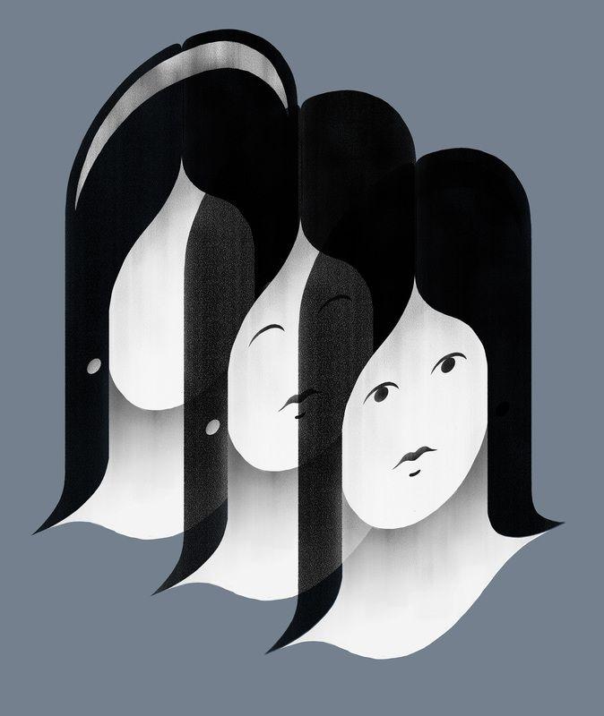 Giulio Bonasera - Lossless - Eliminate unnecessary to find an identity. #conceptual #illustration #psychology www.giuliobonasera.com