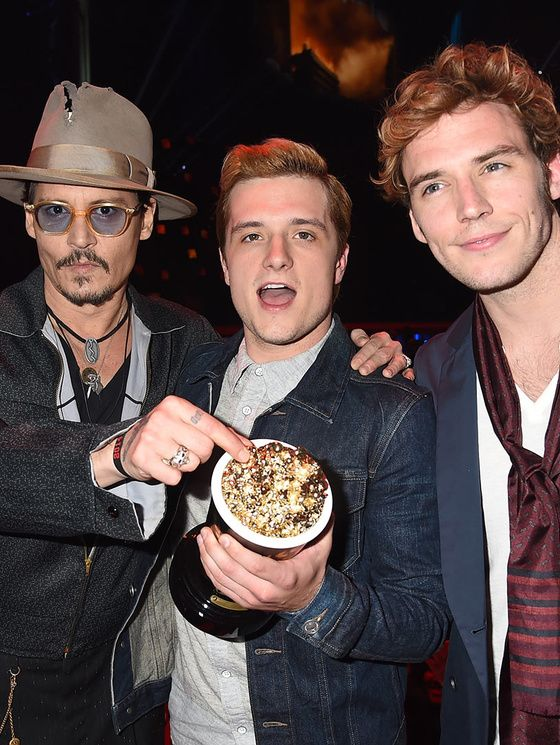 Josh Hutcherson, Sam Claflin et Johnny Depp