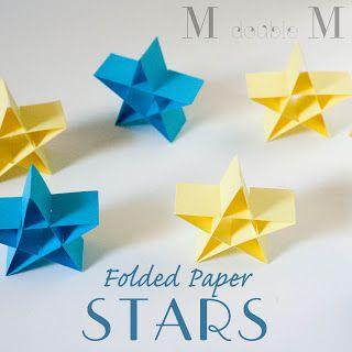 M Doppel M: Gefaltete Papiersterne (DIY).
