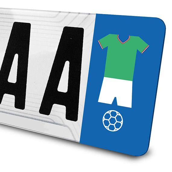 Sticker maillot de football ASSE pour plaques d'immatriculation