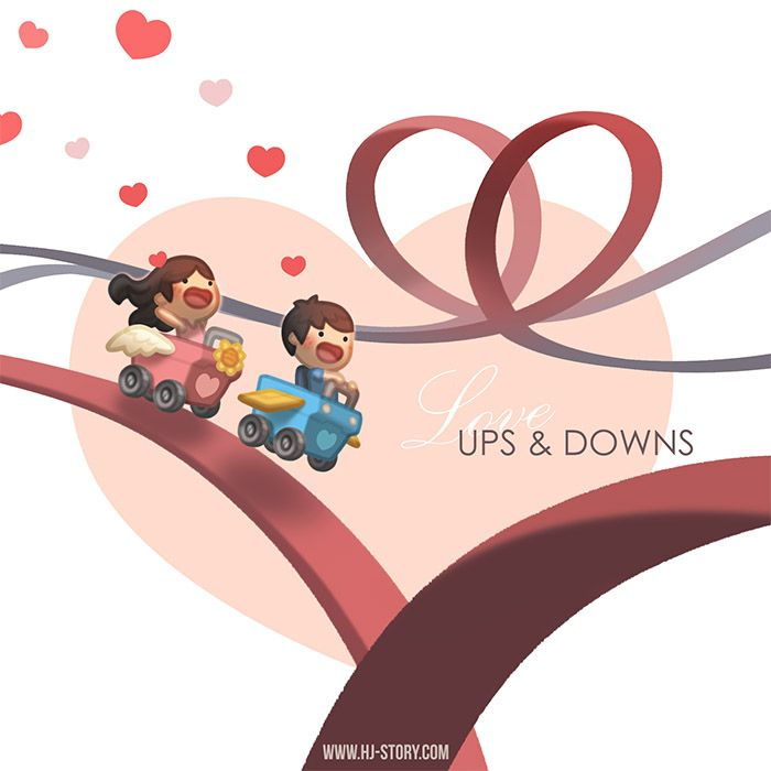 Just a simple drawing of love's ups and downs! :D