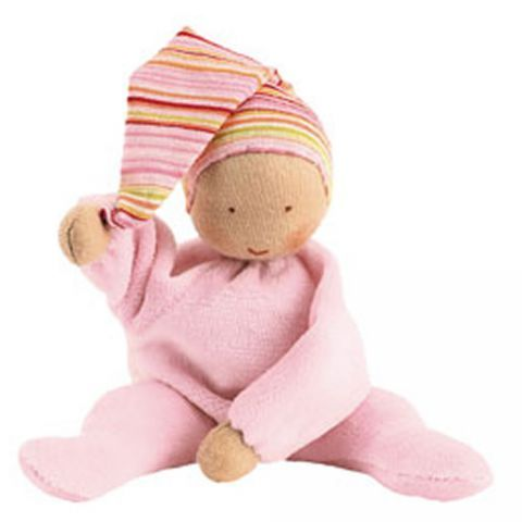 """Lois's new obsession, we call her """"baby"""".  Kathe Kruse Nicki Baby Doll Pale Pink"""