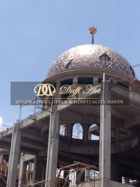 Kubah Masjid Tembaga Daffi Art - Proses pemasangan kubah masjid tembaga & kuningan oleh Daffi Art Gallery. http://kubahmasjid.daffiart.co.id