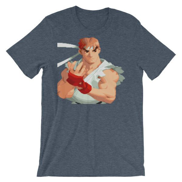 Street Fighter Alpha 2 Ryu Portrait T-shirt by GamingTee on Etsy