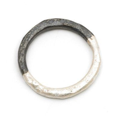 Oxidised Half Ring By Disa Allsopp (Size P)