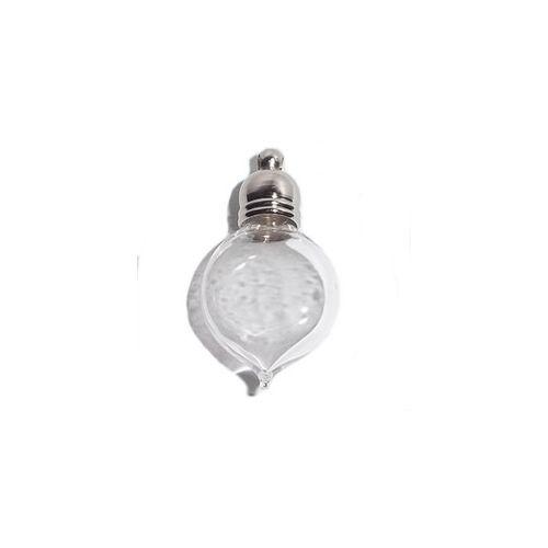 mini fiole en verre romantique plate 14mm/25mm (1pièce)