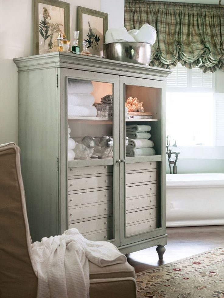 Paula Deen - The Bag Lady's Cabinet. I love this colored piece for a bathroom or even dining.