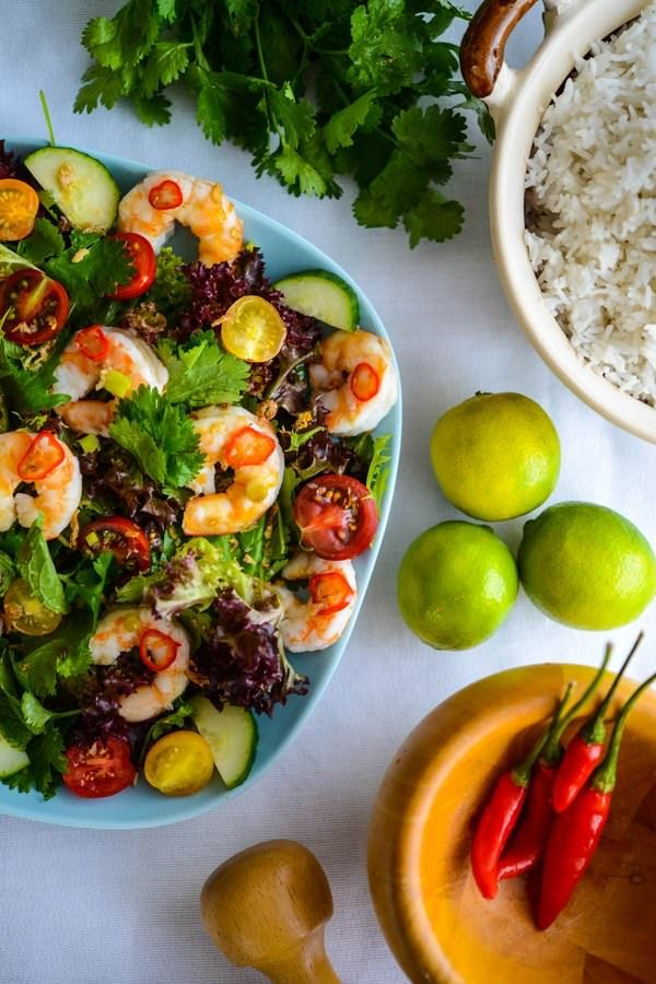 Recipe: Thai Prawn Salad (The Hungry Australian)