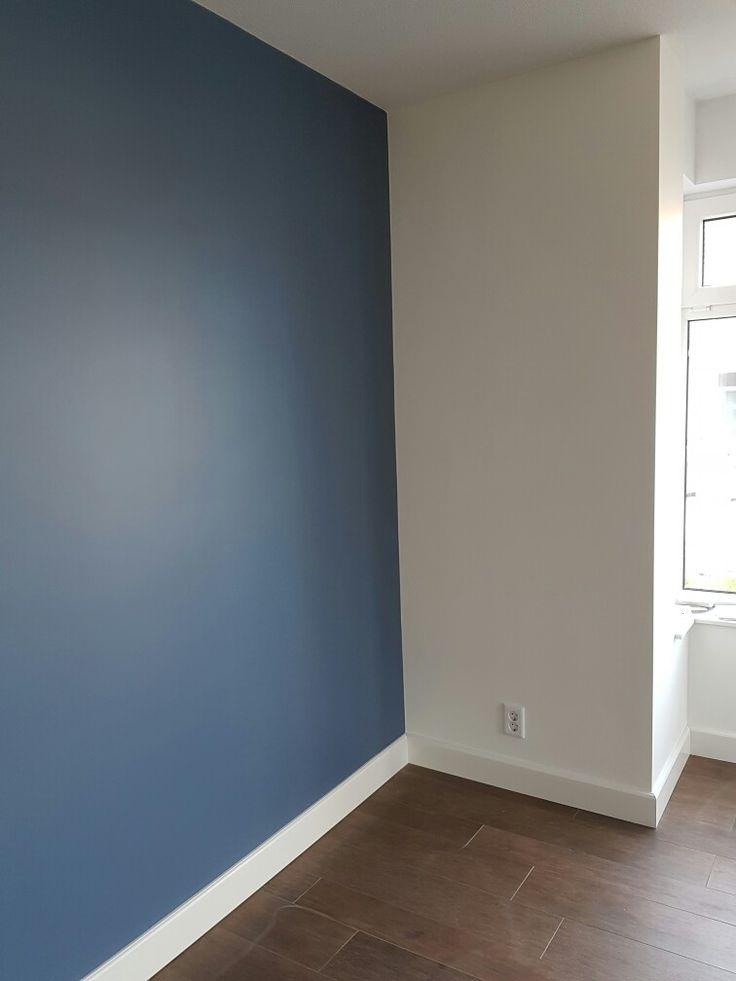 Flexa blueberry dream in de woonkamer @suzannelevels #flexa #houtenvloer