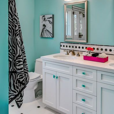 Bathroom in basement - like matching the color of the knobs on the vanity to the beautiful walls ... To see more about decorating your guest bathrooms, come on over to our webpage below, for additional info.