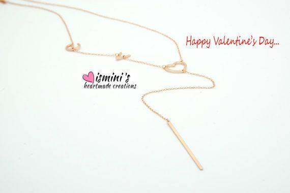 Handmade silver 925 love necklace by IsminisHeartmade on Etsy