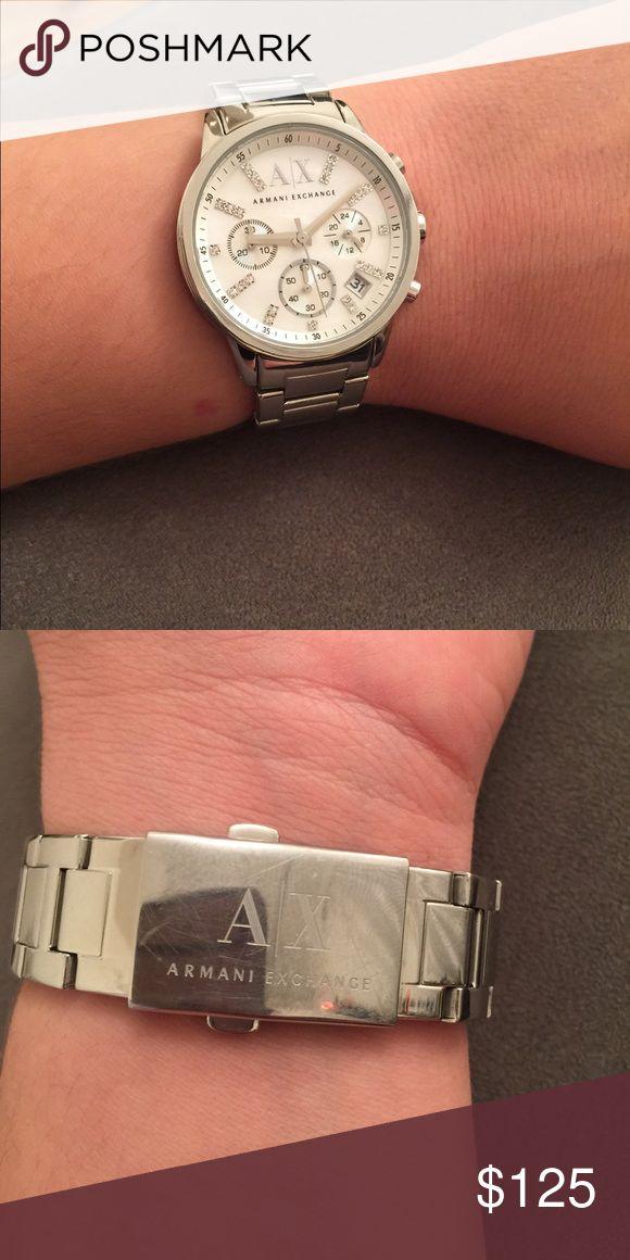 Armani Exchange watch  🚨final price 🚨 Armani Exchange watch silver color A/X Armani Exchange Jewelry
