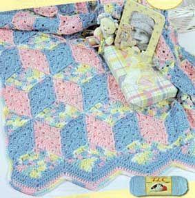 Baby Blocks Crocheted Blanket LW1299 | Free Patterns