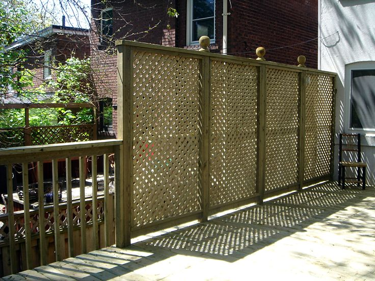 Deck privacy screen get out side pinterest for Deck privacy screen panels