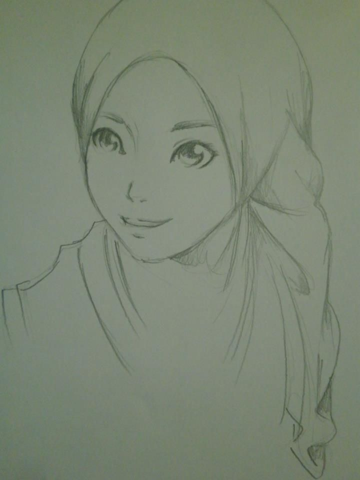 Hijab Style (Pencil Drawing)