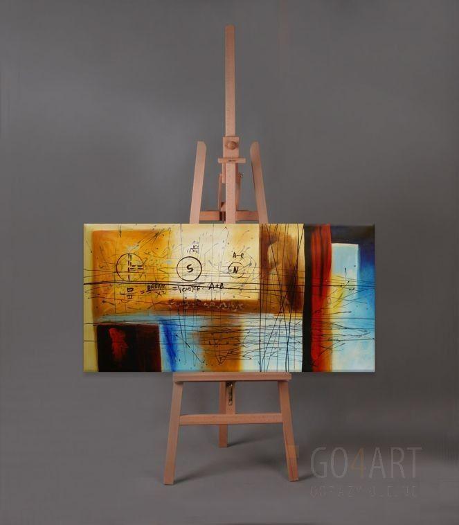 Abstract X2 - obraz olejny - Go4Art -120x60cm 500zl