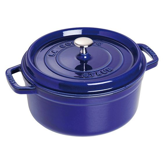 Staub 1102491 Round Cocotte Oven, 4 quart, Dark Blue *** Click image to review more details.
