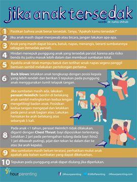 Jika anak tersedak, langkah apa yang dilakukan? Mari simpan di hp ortu dan pengasuh. #poster #parenting #kesehatan >>
