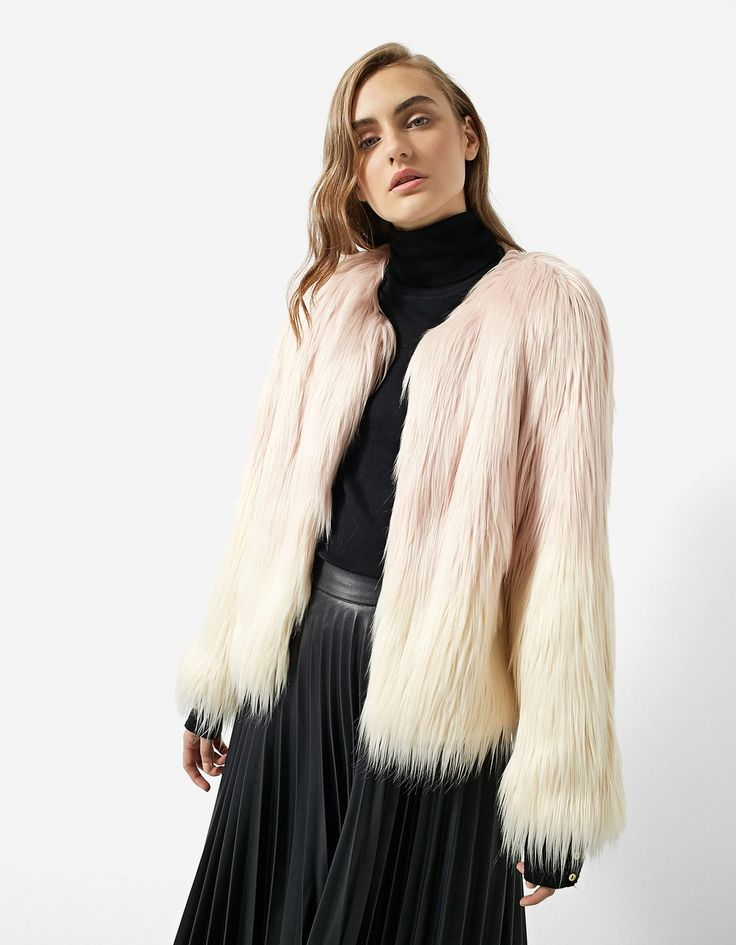 Faux Fur Jacket - Faux fur jackets | Stradivarius Romania