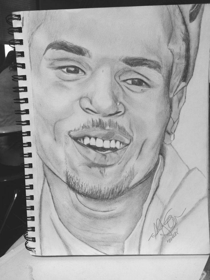 how to draw chris brown easy