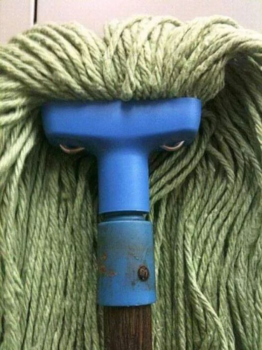 ...so what exactly did u mop up that made this mop so mad???