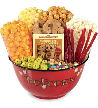 Popcorn Bowl & Snacks  Great for a fun family night or party/ celo for prize.  do special awards and prizes. Awards for the  most gutter balls, the lowest score, the silliest release, the slowest bowl, etc. The only rule is to make it fun! Add gift certificates as prizes