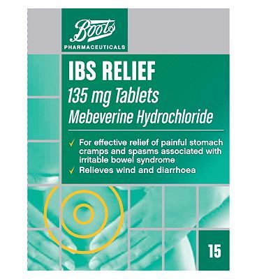 #Boots Pharmaceuticals Boots IBS Relief 135mg Tablets - 15 Tablets #16 Advantage card points. For effective relief of painful stomach cramps and spasms associated with irritable bowel syndrome. Relieves wind and diarrhoea.See details below, always read the label FREE Delivery on orders over 45 GBP. (Barcode EAN=5000167081558)