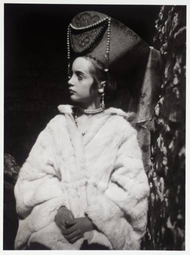 Photo of Angelica Bell, daughter of Vanessa Bell and niece of Virginia Woolf, in costume as the Russian Princess from Woolf's novel Orlando. (Tate Archive)