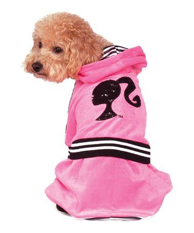 Loving this Barbie Pink 'Barbie Girl' Velour Jumpsuit Pet Costume on #zulily! #zulilyfinds