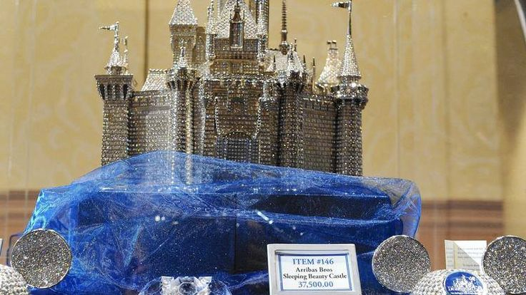 Disneyland, California: the ultimate memory of the 60 th Anniversary, a replica of the sleeping Beauty Castle By Arribas Bros & Swarovski. Only  $37.500