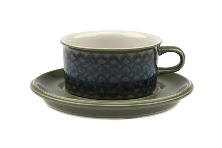 Arabia of Finland Tea Cup and Saucer Stoneware
