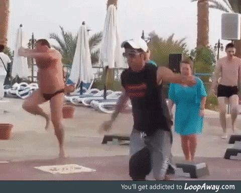 This guy is really into dancing